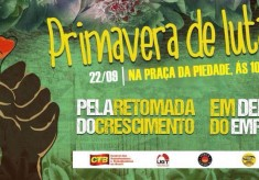 "CTB convoca ato ""Primavera de Lutas"", nesta sexta (22/09), 9 horas, na Piedade"