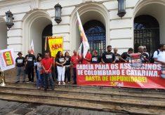 Ato cobra fim da impunidade para os assassinos de Colombiano e Catarina