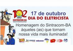 Domingo, 17 de Outubro: Viva o Dia do Eletricista!