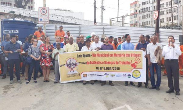 DDS marcou o Dia Municipal em Memória das Vítimas de Acidentes e Doenças do Trabalho