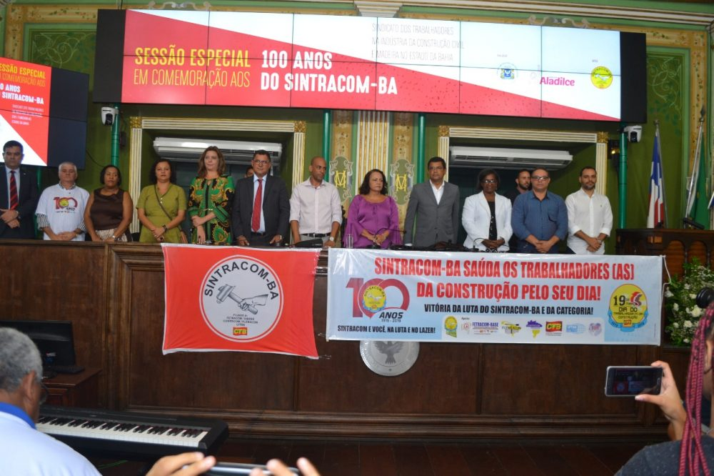 19/03: Centenário do SINTRACOM-BA teve Sessão Especial na Câmara Municipal