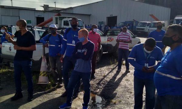 Alves da Cunha (Embasa): Trabalhadores (as) mobilizados