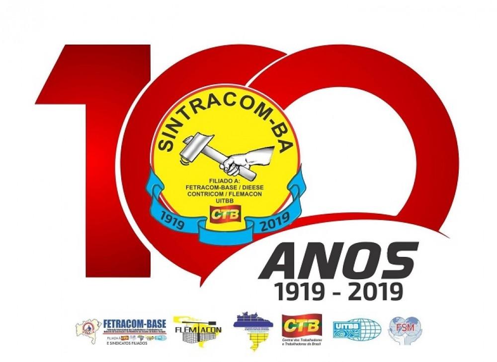 100 anos do SINTRACOM-BA: Sessão Especial requerida pela vereadora Aladilce (PCdoB)