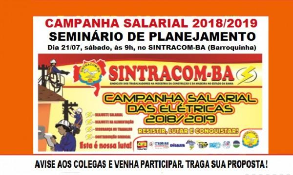 Atenção companheiros (as) das elétricas: Participe!