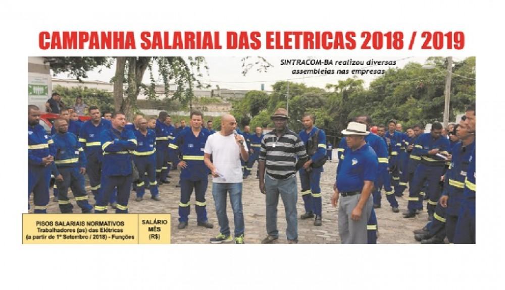 CONFIRA A TABELA DE SALÁRIOS DOS TRABALHADORES (AS) DE ELÉTRICAS