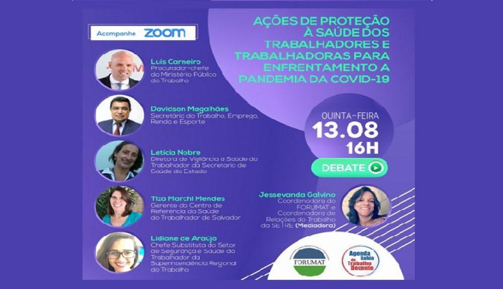 13/08: Hoje tem nova Live do Forumat para marcar o Dia Municipal em Memória das Vítimas de Acidentes e Doenças do Trabalho