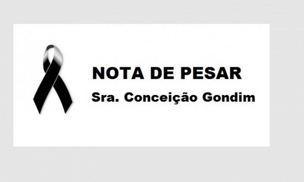 Nota de Pesar – Sra. Conceição Gondim Nascimento